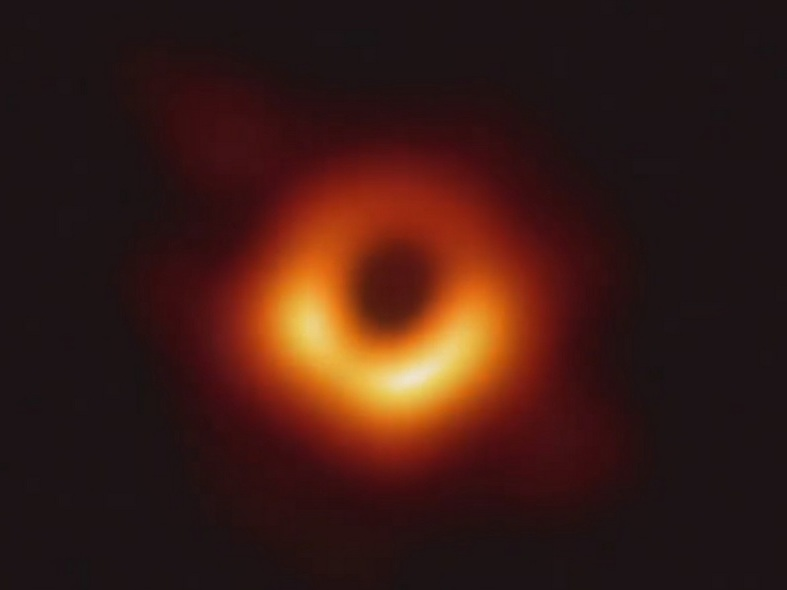 Image showing an actual black hole