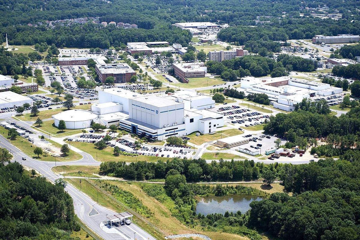 Image of the Goddard Spaceflight center in Greenbelt, Maryland, USA