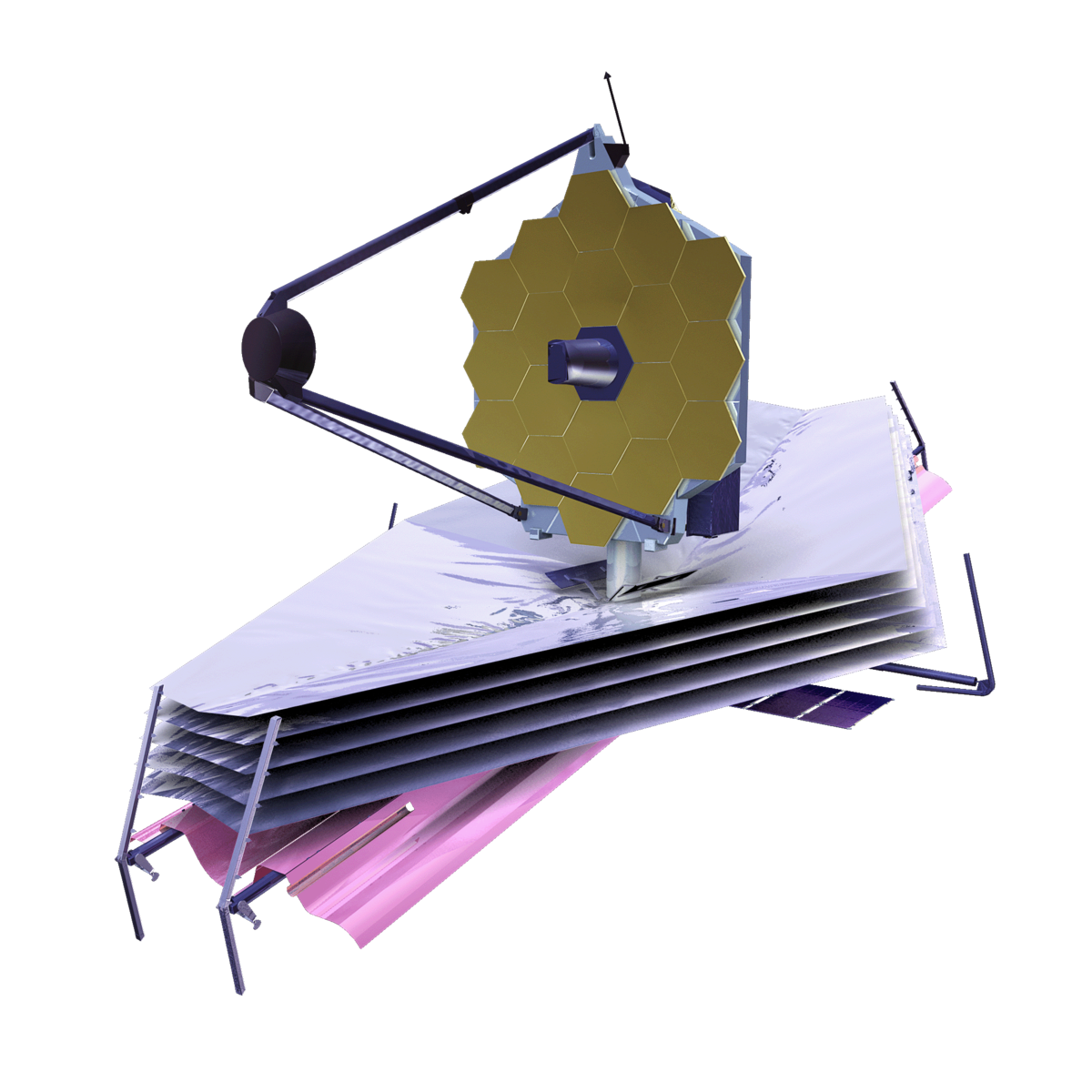 Artist rendition of the James Webb Space Telescope
